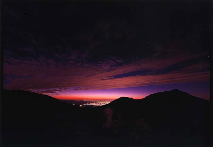黄昏の富山湾